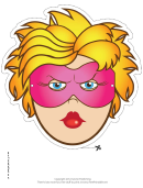 Superhero Female Mask Template
