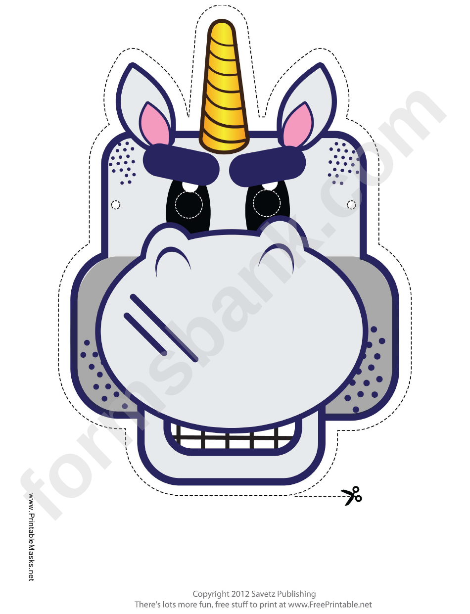 Tough Unicorn Mask Template