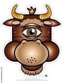 Cyclops Minotaur Mask Template