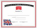 Uk English Language Certificate
