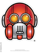 Robot Round Vertical Mask Template