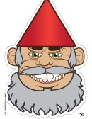 Gnome Beard Mask Template