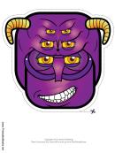 Creature Horns Mask Template