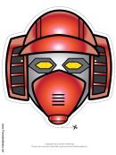 Robot Horizontal Mask Template