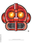 Robot Cool Mask Template