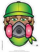 Graffiti Artist Female Mask Template