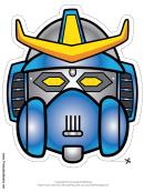 Robot Horns Crest Mask Template