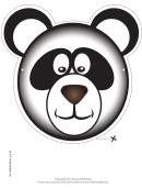 Panda Mask Template