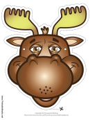 Moose Mask Template
