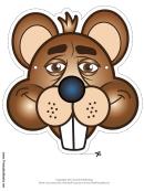 Beaver Mask Template