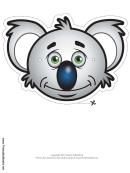 Koala Mask Template