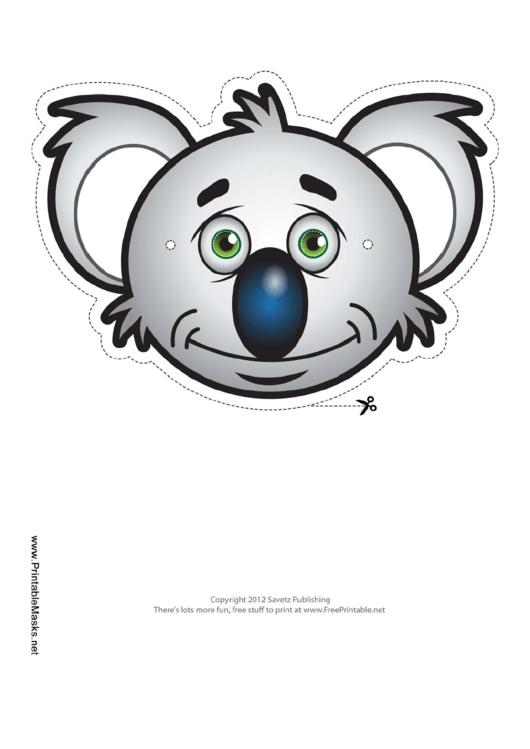 Koala Mask Template printable pdf download