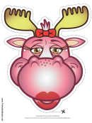 Moose Bow Mask Template