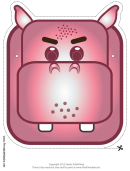 Hippo Mask Template