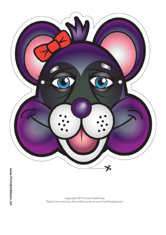 Raccoon Bow Mask Template