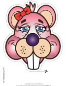 Beaver Ribbon Mask Template