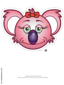 Koala Bow Mask Template