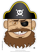 Pirate Captain Mask Template