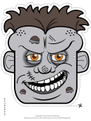 Zombie Male Mask Template