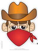 Bandit Cowboy Mask Template
