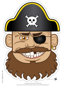 Pirate Hat Mask Template