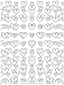 Adult Coloring Pages: Love Tunnel
