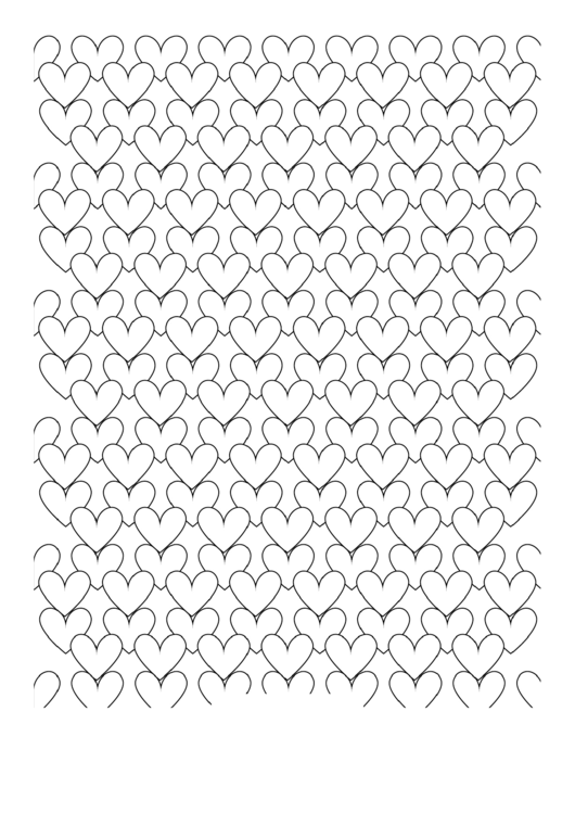 Adult Coloring Pages: Hearts Printable pdf