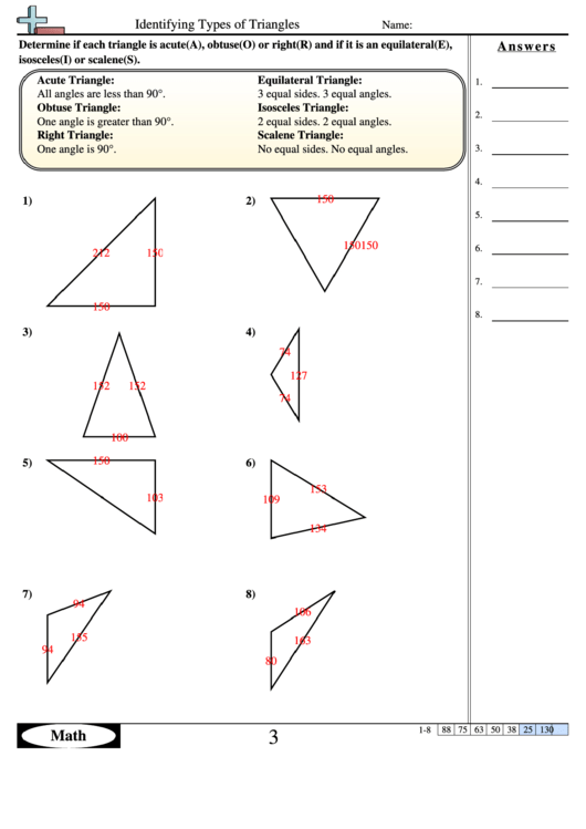 Identifying Types Of Triangles Geometry Worksheet With Answers. Identifying Types Of Triangles Geometry Worksheet With Answers. Worksheet. Worksheet Identifying Types Of Triangles At Mspartners.co