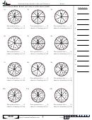 Determining Spinner Percent Chance - Percentage Worksheet With Answers