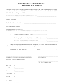 Probate Tax Return Form