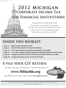 Michigan Corporate Income Tax Annual Return For Financial Institutions - 2012