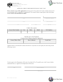 Form Rev 32 2485e (a) - Application For Refund Of Use Tax