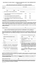 Form Wcd9 - Employee's Application For Temporary Total Disability Benefits