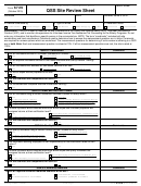 Form 6729 - Qss Site Review Sheet