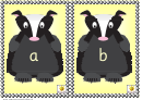 Lc Badger Alphabet Cards Template - Lower Case Letters