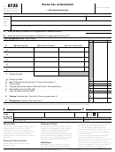 Form 8725 - Excise Tax On Greenmail
