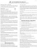 Form D-1040 (r)- City Of Detroit Income Tax Resident Instructions - 2014