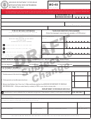 Form Mo-60 Draft - Application For Extension Of Time To File