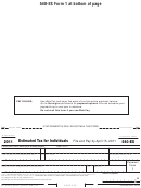 Form 540-es - Estimated Tax For Individuals - 2011