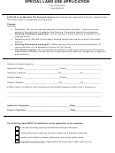 Special Land Use Application - City Of Marshall, Michigan
