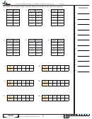 Function Machines - Filling In Missing Digit - Function Worksheet With Answers