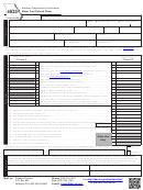 Form 4923 - Motor Fuel Refund Claim