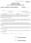 Out-of-state Contractor Bond Form - State Of Iowa Division Of Labor