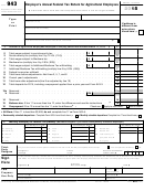 Form 943 - Employer's Annual Federal Tax Return For Agricultural Employees - 2015