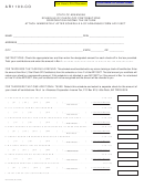 Form Ar1100-co - Schedule Of Check-off Contributions Corporation Income Tax Return