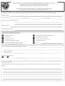 Form Bpr 44-015 - Application To Return Alcoholic Beverages Form