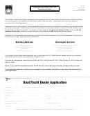 Form Dr-42 - Application/order Form For Boat Decal Sets