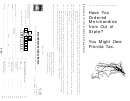 Form Dr-15mo - Out-of-state Purchase Return - 1999