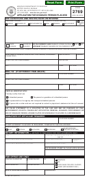 Form 2769 - Application For Disabled Person Placard