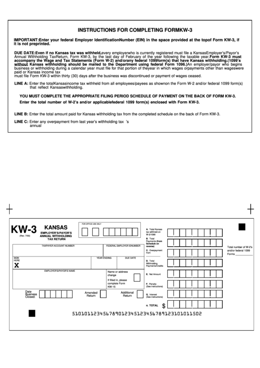 Form Kw-3 - Employer
